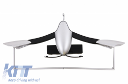 Multifunctional Detachable Car Coat Hanger Headrest and Foldable Gray - UNIVERSALCHG