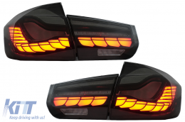 OLED Taillights Conversion to M4 Design suitable for BMW 3 Series F30 Pre LCI & LCI (2011-2019) F35 F80 Red Smoke with Dynamic Sequential Turning Light
