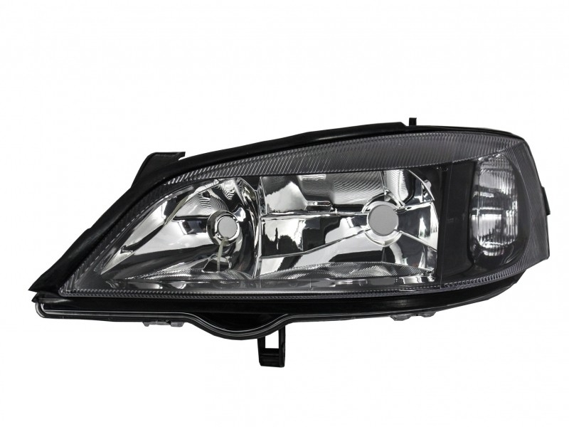 Opel Astra G 1997 2004 Replacement Left Side Headlight Black Background 1216288