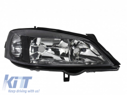 Opel Astra G (1997-2004) Replacement Right Side Headlight Black Background 1216288