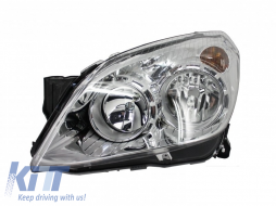 Opel Astra H (2004-2009) Replacement Left Side Headlight Chrome Background 1806183