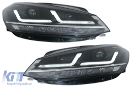 Osram Full LED Headlights LEDriving suitable for VW Golf 7.5 Facelift (2017-2020) Upgrade for Halogen with Dynamic Sequential Turning Lights - LEDHL109-BK