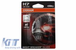 OSRAM Halogen Headlamp Bulb Silverstar H7 2.0 64210SV2 H7 12V 55W Blister (1 unit) - 64210NBS-01B