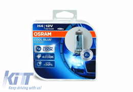 OSRAM Halogen Headlamp Cool Blue Intense 64193CBI H4 12V 60/55W Duobox (2 Units) - 64193CBI-HCB