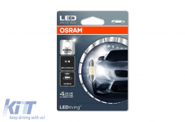 OSRAM LED Driving Cool White Festoon 31mm (6438 Form) 6000K (M2) - 6431CW-01B