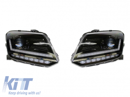 Osram LEDriving Full LED Headlights suitable for VW Amarok (2010-) Dynamic Sequential Turning Lights Black