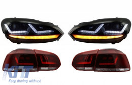 OSRAM LEDriving FULL LED TailLight with Xenon Upgrade Headlights suitable for VW Golf 6 VI (2008-2012) Dynamic Sequential Turning Light - COLEDTL102GTI