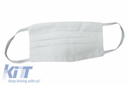 Package of 5 Reusable Mask with Folds 100% Cotton 2 Layers Unisex Washable 10 Filters PPS 330 Microns - MASKRAL