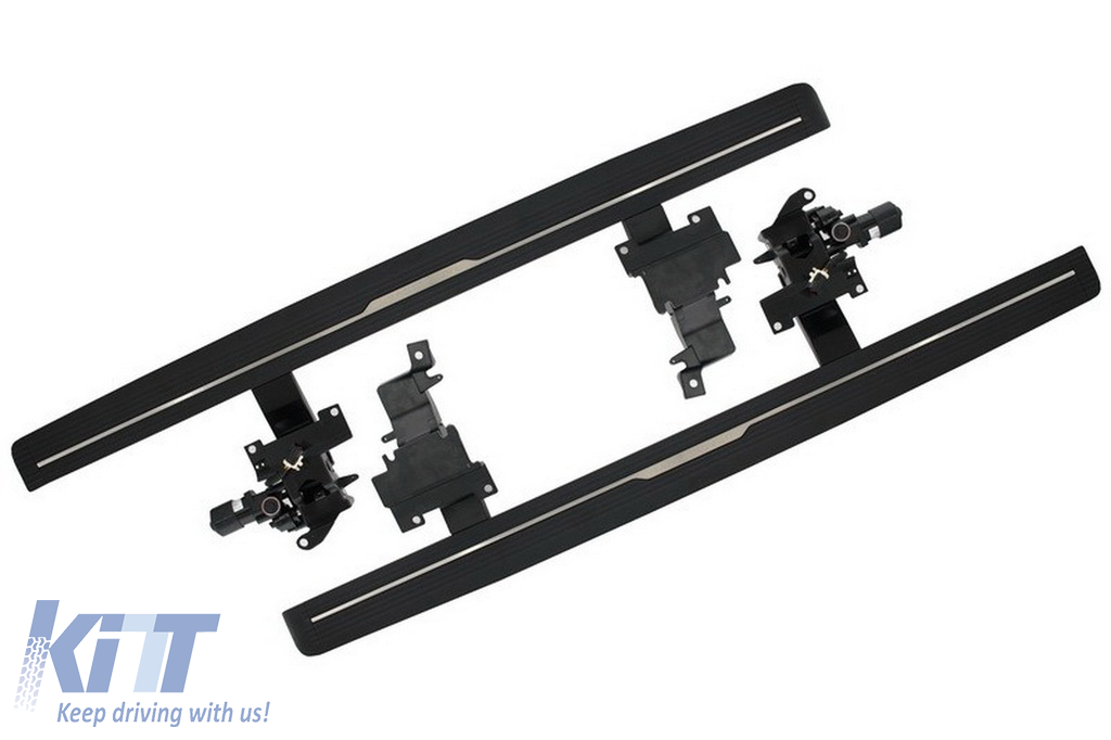 Deployed Side Steps For Range Rover Genuine Accessory: Power Electric Running Boards Side Steps Retractable