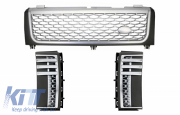Range Rover Side Vents Vogue 2002-2005 Grills With Central Grille Grey-Silver Autobiography L322 Supercharged Edition - CORRFGA02GGS
