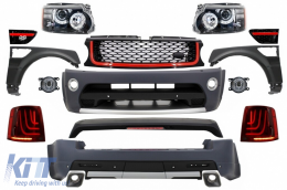 Range Rover Sport (2005-2010) L320 Complete Conversion Retrofit Autobiography Design Body Kit Black Edition+Central Grille and Side Vents Assembly - COCBRRSBR
