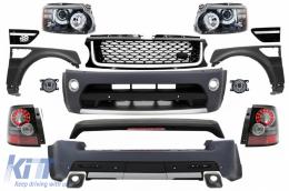 Range Rover Sport (2005-2013) L320 Complete Conversion Retrofit Autobiography Design Body Kit Black Edition - COCBRRSB