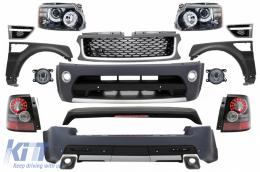Range Rover Sport (2005-2013) L320 Complete Conversion Retrofit Autobiography Design Body Kit Black Grey Edition - COCBRRSGB