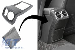 Rear Armrest Box Air Outlet Trim Cover Suitable for Mercedes A-Class W177 V177 (2018-Up) Carbon Fiber - RCTMBW177