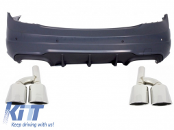 Rear Assembly Bumper Mercedes C-Class W204 (07-14) Facelift C63 AMG and Exhaust Muffler Tips  - CORBMBW204C63AMG