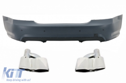 Rear Bumper AMG Look for Mercedes W221 S-Class 05-11 Muffler tips - CORBMBW221TYS65
