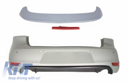 Rear Bumper and Roof Spoiler with LED Brake Light suitable for VW Golf 6 VI (2008-2012) GTI Design - CORBVWG6GTIRW