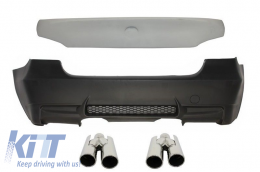 Rear Bumper BMW 3 Series E90 (2004-2011) M3 Design with Trunk spoiler and Exhaust Muffler Tips - CORBBME90M3TY
