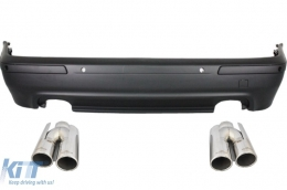 Rear Bumper BMW 5 Series  E39 (1995-2003) Double Outlet M5 Design with PDC+Exhaust Muffler Tips