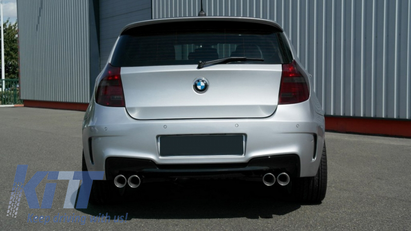 rear bumper bmw series 1 e81 e87 hatchback 2004 2011 1m design. Black Bedroom Furniture Sets. Home Design Ideas