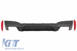 Rear Bumper Diffuser suitable for BMW 5 Series G30 G31 Limousine/Touring (2017-up) M5 Design Matte Black - RDBMG30M5B