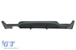 Rear Bumper Diffuser suitable for BMW F32 F33 F36 (2013-) Coupe Cabrio 4 Series M Performance Design Left Double Outlet - RDBMF32MP/1245257
