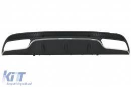 Rear Bumper Diffuser suitable for MERCEDES C-Class W205 S205 2014+ C63 Design Only for Sport Package - RDMBW205AMG