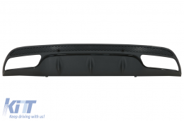 Rear Bumper Diffuser suitable for MERCEDES C-Class W205 S205 2014+ C63 Design Only for Sport Pack Black Edition