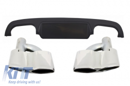 Rear Bumper Diffuser with Exhaust Muffler Tips suitable for MERCEDES S-Class W221 (2005-2013) - CORDMBW221S65