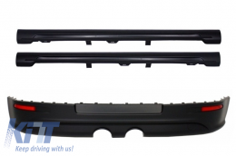 Rear Bumper Extension suitable for VW Golf V (2003-2007) R32 Look+Side Skirts GTI Design - CORBVWG5R32THSS