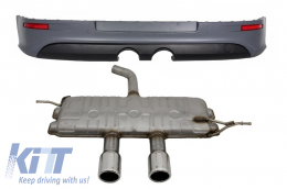 Rear Bumper Extension suitable forVW Golf 5 V (2003-2007) R32 Look & Complete Exhaust System - CORBVWG5R32S