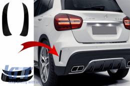 Rear Bumper Flaps Side Fins Flics suitable for MERCEDES GLA X156 GLA250 GLA45 (2014-up) Black Edition - RFOBX156
