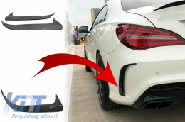 Rear Bumper Flaps Side Fins Flips suitable for MERCEDES CLA W117 (2014-2018) Carbon Edition - RFOCFW117