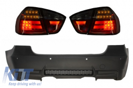Rear Bumper M3 Design with PDC LED Taillights Red/Smoke BMW 3 Series E90 2005-2008 - CORBBME90M3PDC
