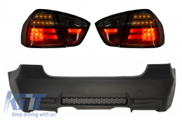 Rear Bumper M3 Design without PDC LED Taillights Red/Smoke BMW 3 Series E90 2005-2008 - CORBBME90M3
