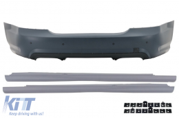 Rear Bumper Mercedes Benz W221 S-Class (2005-2010) S65 AMG Design with Side Skirts Short Version - CORBMBW221S