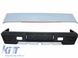 Rear Bumper Roof Spoiler LED LightBar Mercedes W463 G-Class 1989+ G63 G65 AMG Design - COCBMBW463AMGRS