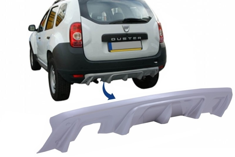 rear bumper skid plate protection dacia duster 4x4 4x2. Black Bedroom Furniture Sets. Home Design Ideas
