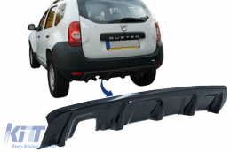 Rear Bumper Skid Plate Protection suitable for DACIA Duster 4x4 / 4x2 (2010-2017) Piano Black - SPRBDDPB