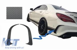 Rear Bumper Splitters Fins Side Vent Canards Mercedes Benz CLA W117 C117 X117 (2013-2018) CLA45 AMG Design Carbon Film - RBSPMBW117AMGCF