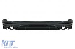 Rear Bumper Spoiler Valance Diffuser Double Outlet suitable for Audi Q5 SUV FY S-Line (2018-2020) Black Tips - RDAUQ5FYSQ5B