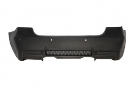 Rear Bumper suitable for BMW 3 Series E90 (2004-2011) Middle Exhaust M3 Design with PDC - RBBME90M3PDC