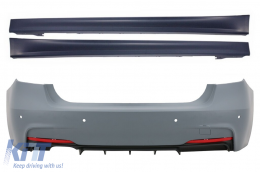 Rear Bumper suitable for BMW 3 Series F30 (2011-up) M-Technik Design with Side Skirts - CORBBMF30MT