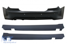 Rear Bumper suitable for BMW 5'er E60 LCI (2007-2010) M-Technik Design PDC 18mm with Side Skirts