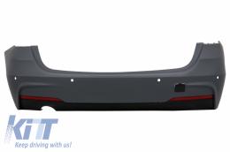 Rear Bumper suitable for BMW F31 3 Series Touring Non LCI & LCI (2011-2018) M-Technik Design Single Outlet