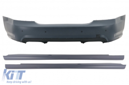 Rear Bumper suitable for Mercedes S-Class W221 (2005-2010) S65 Design with Side Skirts - CORBMBW221SS
