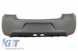 Rear Bumper Suitable for VW Polo 6R (2009-2018) R400 Design Without PDC