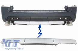 Rear Bumper Trims Moldings for Land Rover Range Rover Sport (2005-2013) L320 Autobiography Design Silver - RBMRRSA