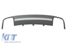 Rear Bumper Valance Air Diffuser suitable for AUDI A4 B8 Facelift (2012-2015) Limousine/Avant S4 Design - RDAUA4B8S4F
