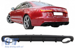 Rear Bumper Valance Air Diffuser suitable for AUDI A6 C7 4G Limousine Avant (2010-2014) RS6 Design - RDAUA64GFAVRS6